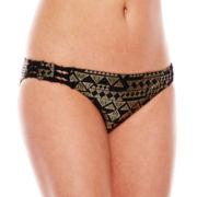 Ninety-Six Degrees Desert Star Foiled Hipster Swim Bottoms