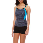 Speedo® Textured Double-Strap Tankini Swim Top or Swim Shorts