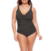 Trimshaper® Spot On One-Piece Swimsuit - Plus