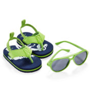 Carter's® Dino Sunglasses and Flip Flips Set - Baby Boys 3m-12m