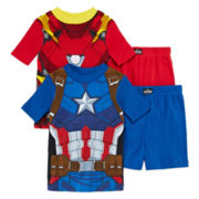 Captain America and Iron Man 4-pc. Pajama Set - Boys 4-10