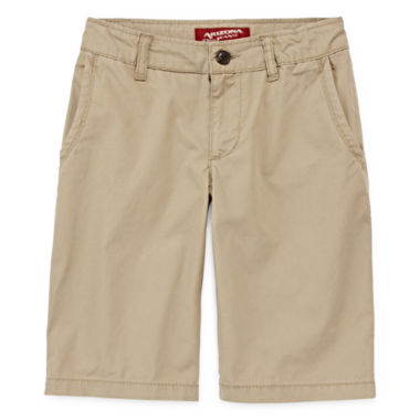 jcpenney.com | Arizona Poplin Chino Shorts - Boys 8-20, Slim and Husky