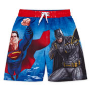 Batman vs. Superman Swim Trunks - Preschool Boys 4-7
