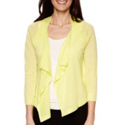 Worthington® 3/4-Sleeve Flyaway Cardigan - Petite