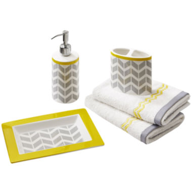 jcpenney.com | Intelligent Design Elle 5-pc. Geometric Bath Accessory Set