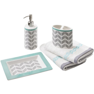 jcpenney.com | Intelligent Design Laila 5-pc. Geometric Bath Accessory Set
