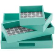 Intelligent Design Gwen 4-pc. Geometric Decorative Tray Set