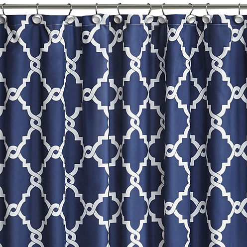 Madison Park Essentials Cole Printed Shower Curtain