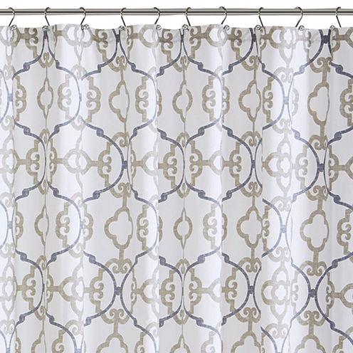 Madison Park Pure Nicola Cotton Shower Curtain