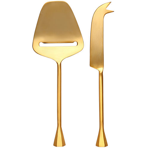 Thirstystone® Old Hollywood 2-pc. Gold-Plated Cheese Set