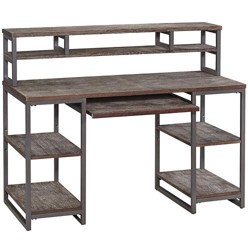Beckley Pedestal Desk with Hutch