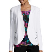 nicole by Nicole Miller® Long-Sleeve Zip-Pocket Jacket