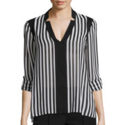 nicole by Nicole Miller® Long-Sleeve Striped Blouse