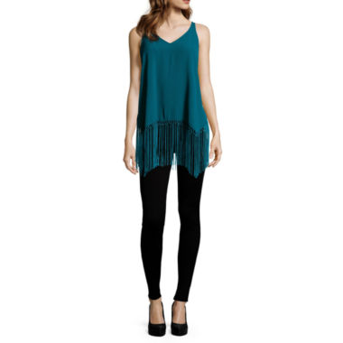 jcpenney.com | BELLE + SKY™ High-Low Fringed Tank Top or Scuba Leggings