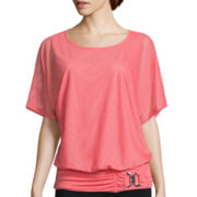Alyx® Short-Sleeve Banded-Hem Buckle Top