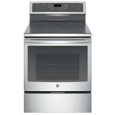 "jcpenney.com | GE Profile™ Series 30"" Free-Standing Convection Range with Induction Technology"