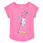Okie Dokie® Dolman Graphic Tee - Preschool Girls 4-6x