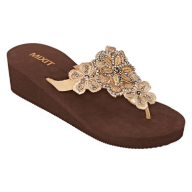 jcpenney.com | Mixit™ Floral Shield Wedge Sandals