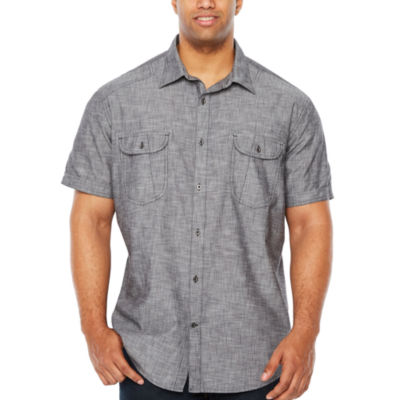 The Foundry Big & Tall Supply Co. Short Sleeve Button Front Shirt Big And Tall by The Foundry Supply Co.
