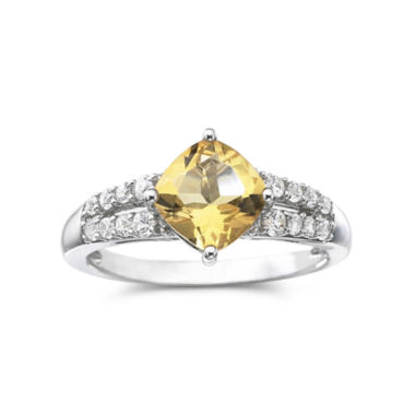 jcpenney.com | Genuine Citrine & Lab-Created White Sapphire Sterling Silver Cocktail Ring