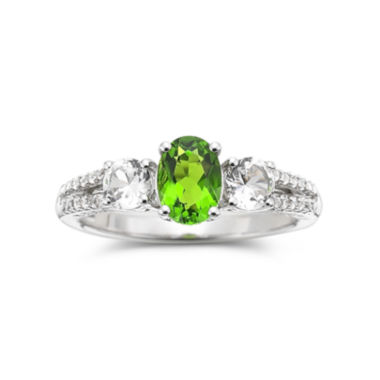 jcpenney.com | Simulated Peridot & Lab-Created White Sapphire Sterling Silver Ring