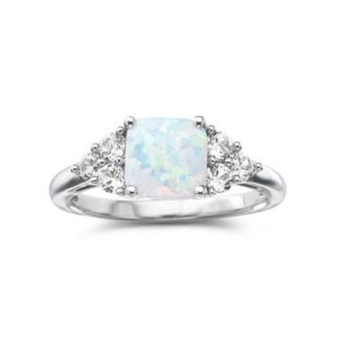 jcpenney.com | Lab-Created Opal & White Sapphire Sterling Silver Ring
