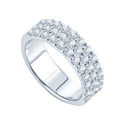 1 1/2 CT. T.W. Diamond Three-Row Band