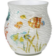 Creative Bath™ Rainbow Fish Wastebasket