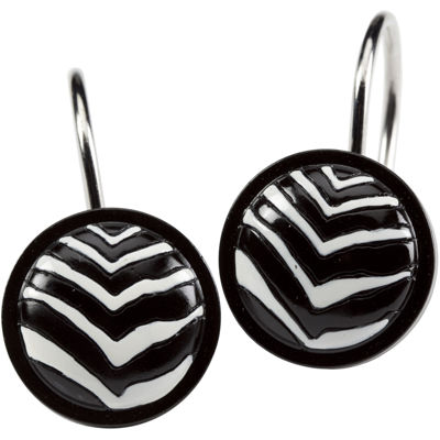 Creative Bath™ Zebra Shower Curtain Hooks