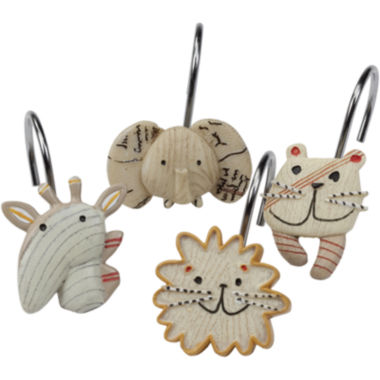 jcpenney.com | Creative Bath™ Animal Crackers Shower Curtain Hooks