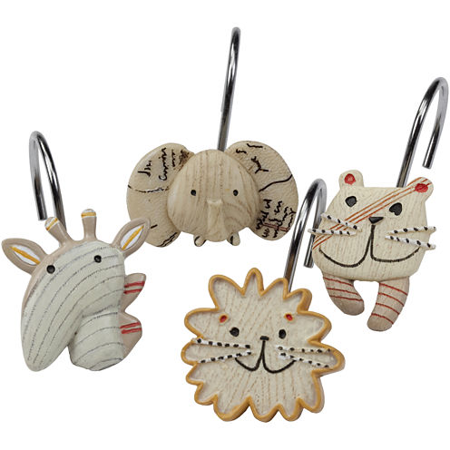 Creative Bath™ Animal Crackers Shower Curtain Hooks