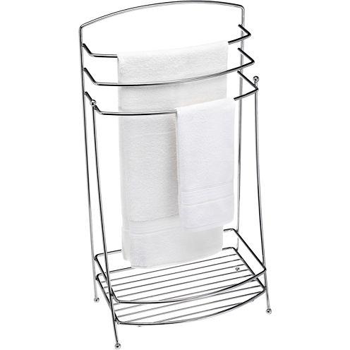 Creative Bath™ Chrome Standing Towel Butler