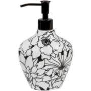 Creative Bath™ Black & White Ceramic Soap Dispenser