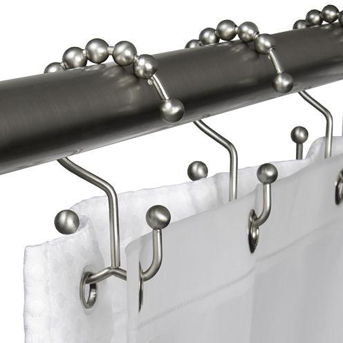 Double Glide Shower Curtain Hooks