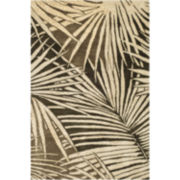 Martha Stewart Rugs™ Palms Rectangular Rugs – Coconut Brown