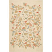 Martha Stewart Rugs™ Autumn Woods Rectangular Rugs – Persimmon Red
