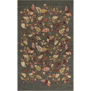 Martha Stewart Rugs™ Autumn Woods Rectangular Rugs – Francesca Black