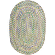 Tropical Delight Reversible Braided Oval Rug