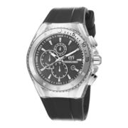 TechnoMarine® Cruise Mens Silver-Tone Silicone Strap Chronograph Watch