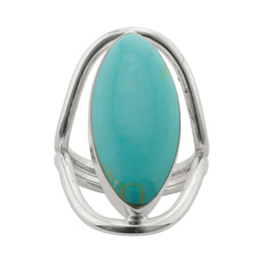 jcpenney.com | Simulated Turquoise Silver-Plated Ring