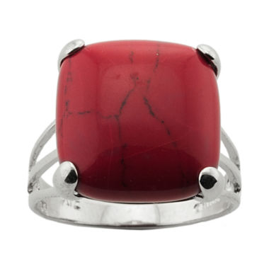 jcpenney.com | Simulated Red Jasper Silver-Plated Ring