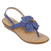 St. John's Bay® Ginnifer Flower Thong Sandals