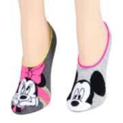 Disney Mickey and Minnie Mouse 2-pk. Liner Socks