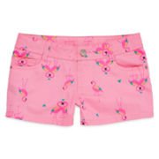 Total Girl® Print Twill Shorts – Girls 7-16 and Plus