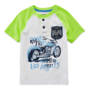 Arizona Short-Sleeve Graphic Henley – Boys 2t-5t