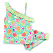 Angel Beach 2-pc. Pineapple Tankini - Girls 4-6x
