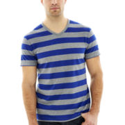 Claiborne® Striped V-Neck Tee