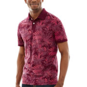 Arizona Short-Sleeve Tropical Print Polo