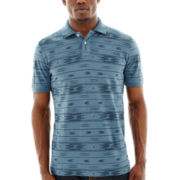 Arizona Short-Sleeve Aztec Stripe Polo