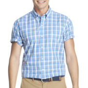 IZOD® Short-Sleeve Lightweight Plaid Shirt